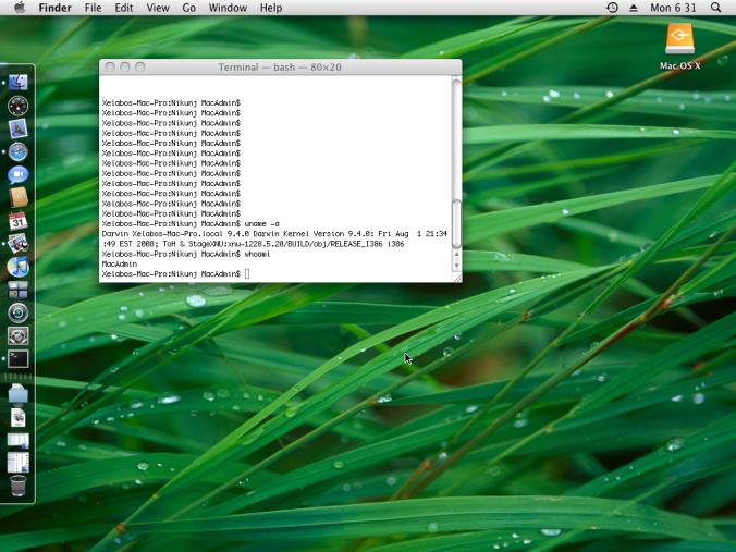 My Brandnew MAC OS X Leopard